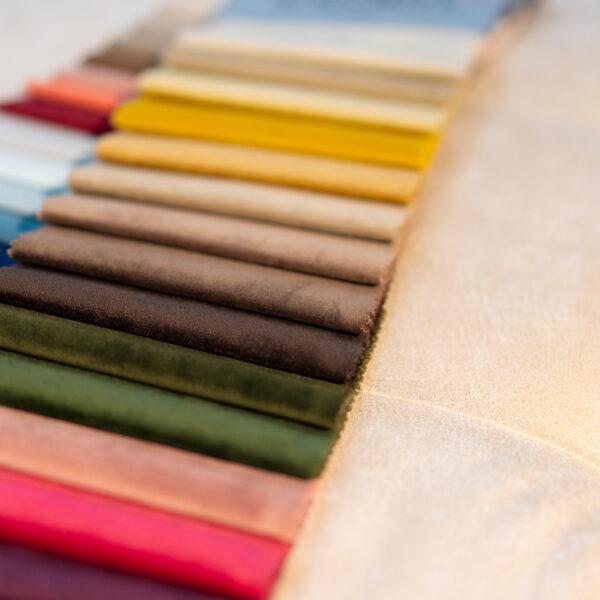 multi-coloured fabric samples