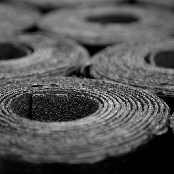 Rolls of bitumen for roofing