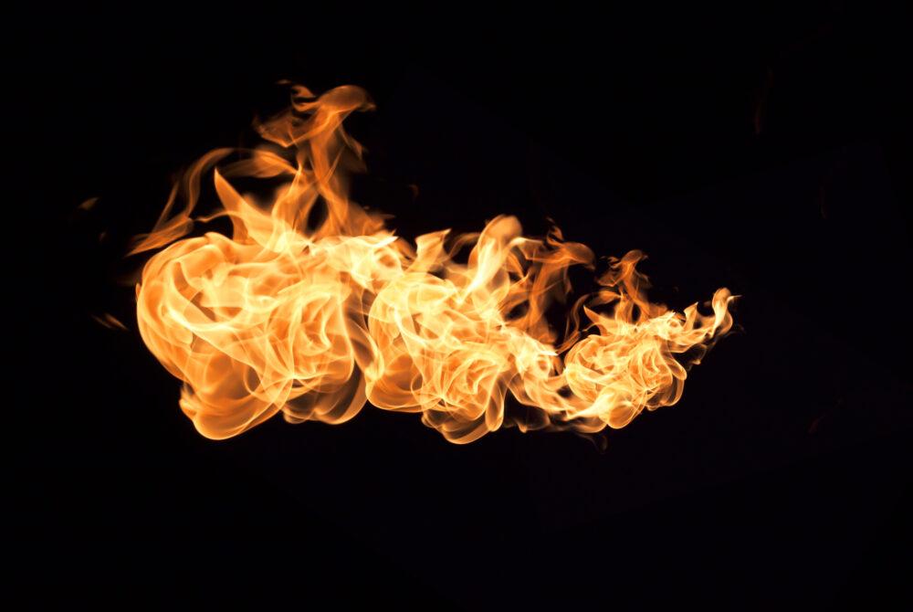 fire flames against a black backdrop