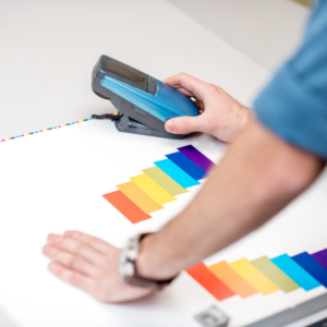 Colour testing using a spectrophotometer