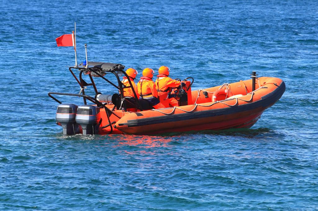 coast guard motor boat
