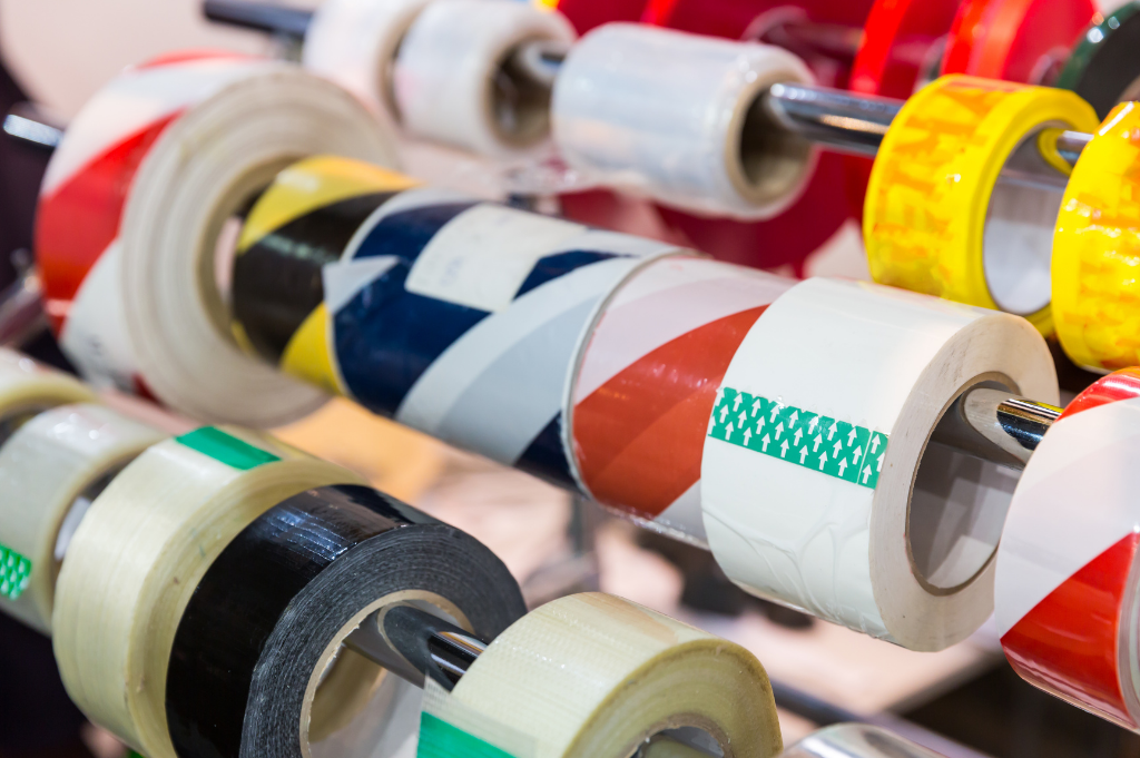 collection of adhesive tape rolls