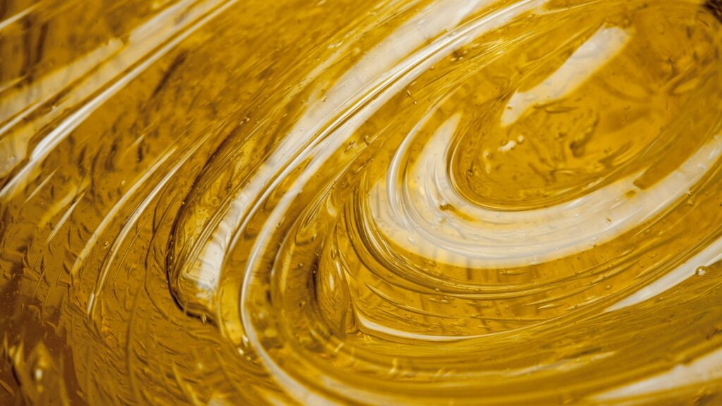 Honey like coating with swirl through it after coating testing methods applied